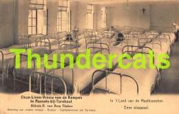 CPA ONZE LIEVE VROUW VAN DE KEMPEN TE RAEVELS BIJ TURNHOUT EENE SLAAPZAAL - Turnhout
