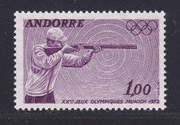 ANDORRE N°  220 ** MNH Neuf Sans Charnière, TB (D7233) Sports, Jeux Olympiques De Munich, Tir - Neufs