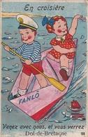 ¤¤  -  DOL-de-BRETAGNE   -  Carte à Système  -  Couple D'enfants Dans Un Bateau    -  ¤¤ - Dol De Bretagne