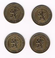 TSJECHOSLOWAKIJE 4 X 1 KORUNA  1962/63/65/67 - Tchécoslovaquie