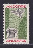 ANDORRE N°  252 ** MNH Neuf Sans Charnière, TB (D7234) Cosmos, Satellite, Liaison Téléphonique - Andorra Francesa