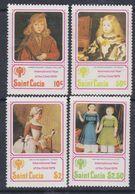 Sainte-Lucie N° 465 / 68 XX Année Internationale De L'enfant, La Série Des 4 Valeurs Sans Charnière, TB - St.Lucie (1979-...)