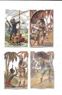 10779- Lot De 4 Chromos CHOCOLAT POULAIN : Robinson Crusoë - Poulain