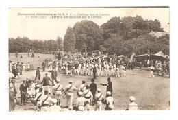 CPA 85 CHANTONNAY CHAMPIONNAT D'ATHLETISME L'U.R.P.V CHALLENGE JEAN DE LESPINAY Arrivée Des Sociétés Sur Le Terrain 1927 - Chantonnay