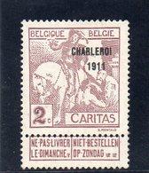 BELGIQUE 1911 * - 1910-1911 Caritas