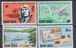 Sainte-Lucie N° 477 / 80 XX 50ème Anniversaire Du Vol De Charles Lindberg La Série Des 4 Valeurs Sans Charnière, TB - St.Lucie (1979-...)
