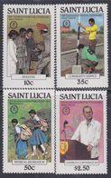 Sainte-Lucie N° 540 / 43 XX 25ème Anniversaire Du Prix Du Duc D'Edimbourg La Série Des  Valeurs Sans Charnière, TB - St.Lucie (1979-...)