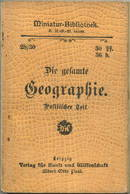 Miniatur-Bibliothek Nr. 28-30 - Die Gesamte Geographie Politischer Teil - 8cm X 11cm - 128 Seiten Ca. 1900 - Verlag Für - Libri, Riviste, Fumetti