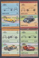 Sainte-Lucie N° 728 / 35  XX Automobiles III, La Série Des 8 Valeurs Sans Charnière, TB - St.Lucie (1979-...)