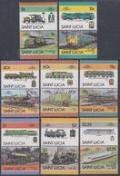 Sainte-Lucie N° 794 / 809  XX Locomotives V, La Série Des 16 Valeurs Sans Charnière, TB - St.Lucie (1979-...)