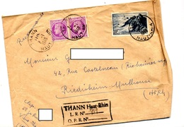 Lettre Recommandee Thann Sur Ceres Raz - Cachets Manuels