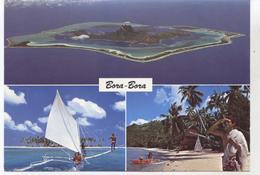 BORA BORA LA PLUS BELLE ILE DU MONDE CPM  TBE  N482 - Polinesia Francese