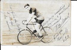 CYCLISME - RARE - Photo Carte - VICTOR LINART - Signée - Cycliste - CHAMPION DE BELGIQUE D' EUROPE ET DU MONDE - Wielrennen