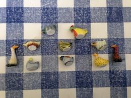 10 Feves Serie Complète Boule De Plume 2007 Prime  Poules Et Oiseaux - Animals