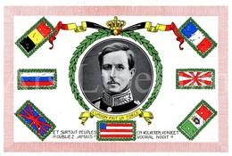 ROYALTY / Belgique / België / Roi Albert I / Koning Albert I / Size: 20.90 X 27.20 Cm. / L'union Fait La Force - Documents Historiques
