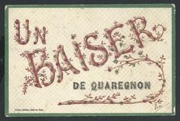 +++ CPA  - Carte Fantaisie - Un Baiser De QUAREGNON - Paillettes   // - Quaregnon