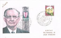 28663. Carta LANCIANO (CH) 1987. 44 Aniversario Rivolta Ottobrina - 6. 1946-.. Repubblica