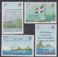 Sainte-Lucie N° 925 / 28  XX Flore : Champignons De Sainte-Lucie La Série  Des 4 Valeurs Sans Charnière, TB - St.Lucie (1979-...)