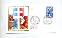Lettre Cachet Colombey Deux Eglises Sur De Gaulle - Marcophilie (Lettres)