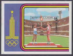 Sainte-Lucie BF N° 21 XX  Jeux Olympiques De Moscou, Le Bloc Sans Charnière, TB - St.Lucie (1979-...)
