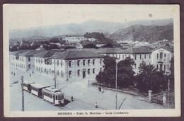 1920s Messina Italy Postcard Showing Viale S Martino – Case Lombarde Italia Cartolina Sicilia Sicily - Messina