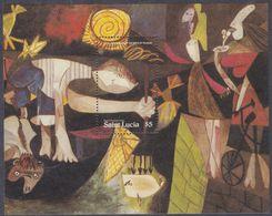 Sainte-Lucie BF N° 28 XX 100ème Anniversaire De La Naissance De Pablo Picasso, Le Bloc Sans Charnière, TB - St.Lucie (1979-...)