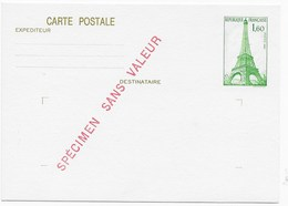 Cours D'instruction CARTE POSTALE 1,60 TOUR EIFFEL - Cours D'Instruction