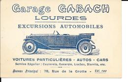 Lourdes - PUB - Commerce: Garage GABACH - Voitures Particulières - Autos - Cars - Autobus - 78, Rue De La Grotte - Buses & Coaches