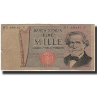 Billet, Italie, 1000 Lire, 1969-03-25, KM:101a, B+ - [ 2] 1946-… : Républic