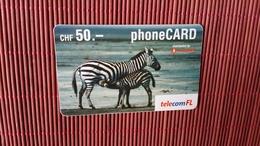 Prepaidcard Zebra CHF50- Used 2 Scans Rare - Suisse