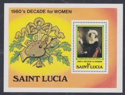 Sainte-Lucie BF N° 31 XX Décennie De La Femme De 1980, Le Bloc Sans Charnière, TB - St.Lucie (1979-...)
