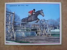 Almanach Des PTT 1967 Saut D'Obstacle Format 21,5X28,5cm - Calendars