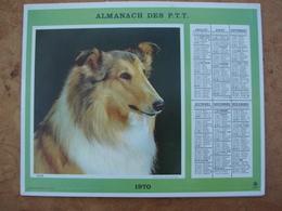 Almanach Des PTT 1970 Chien -Chat Dépt. Ille & Vilaine Format 21,5X28,5cm - Calendars