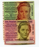 "Irlande Ireland "" Irish Hospitals' Sweepstake Ticket "" Cambridgeshire 1960 - 1962 - Ireland"