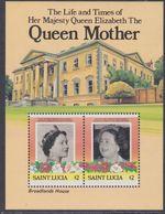 Sainte-Lucie BF N° 39 XX 85ème Anniversaire De La Reine-mère, Le Bloc Sans Charnière, TB - St.Lucie (1979-...)