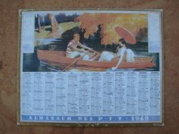 Almanach Des PTT 1949 Barque Sur L'eau - Calendars