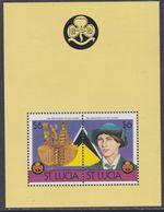 Sainte-Lucie BF N° 45 XX 75ème Anniversaire Du Mouvement Scout ( II ), Le Bloc Sans Charnière, TB - St.Lucie (1979-...)