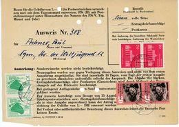 NEURUPPIN - Sammler Ausweis Für Den Bezug Von Postwertzeichen 1958 - DDR