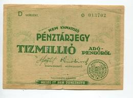 "Hongrie Hungary Ungarn 10.000.000 AdoPengorol 1946 """" MASRA  AT  NEM  RUHAZHATO """" RARE - Hungary"