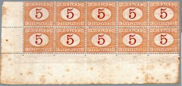Italy,1870,postage Due,cifre Inverted,Sassone#S5,Scott#J5,MNH **,as Scan - Taxe