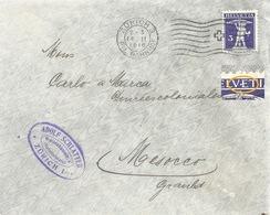 """Drucksache  """"Schlatter, Zürich"""" - Mesocco  (Markenabart)            1916 - Briefe U. Dokumente"""