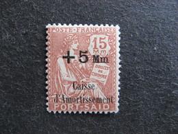 PORT-SAID:   TB N° 88, Neuf X. - Unused Stamps