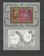 Guinea - Bissau 1978 Silver Coronation QEII, Gold S/s MNH - Familias Reales