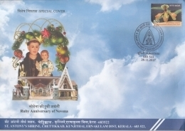 India  2017  St. Anthony's Shrine  Chettikad  Ruby Anniverary Of Novena  Cover #  10937  D Inde Indien - Churches & Cathedrals