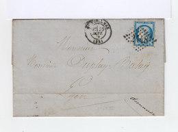 Montélimar Type 17 Oblitération Gros Chiffres 2448 Sur Lettre. (500) - Marcophilie (Lettres)