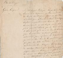 ZZ602 - Révolution Belge De 1830 - Certificat Du Chasseur De Schepper - Cachet Ville De BRUGES Garde Civique 1834 - Historische Documenten