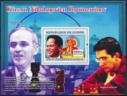 D- [402043] **/Mnh-Guinée 2007 - Kirsan Nikolayevich Hyumzhinov, Garry Kasparov, Vladimir Kramnik, Echecs - Echecs