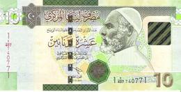 Libya - Pick 78A-b - 10 Dinars 2011 - Unc - Libia