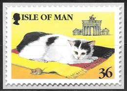 Isle Of Man, Manx Cat Stamp, Unused - Stamps (pictures)