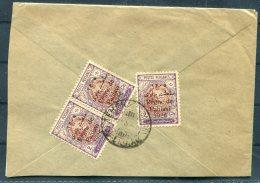 1926 Persia Iran Pahlavi Overprints, Large Part Cover + Letter - Iran